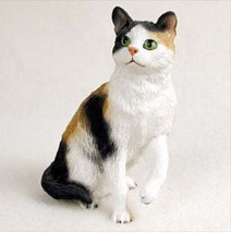 CALICO CAT Figurine Statue Hand Painted Resin Gift - $17.25