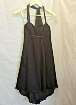 David's Bridal Girls Size 10 Black Halter Dress beaded under bust - $43.54