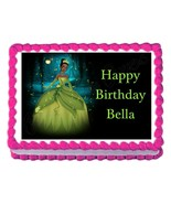 Princess TIANA party decoration edible birthday cake image cake topper s... - $7.80