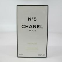 Chanel NO.5 By Chanel 7.5 ml/ 0.25 Oz Parfum Refillable Spray Nib Vintage - $138.59