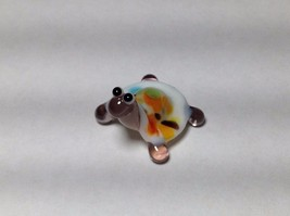 Miniature Glass party colored turtle Handmade Blown Glass Made USA