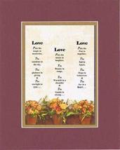 Touching and Heartfelt Poem for Loving Partners - Love.Love.Love Poem on... - $15.79