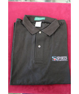 Sports Channel Black Polo Shirt Large Outer Banks Short Sleeve Shirt - $12.86
