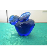 Cobalt Blue Glass Bunny Paperweight - $9.99