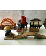 Thomas Wooden Railway Signal House Water Tower Cement Works Rumblin Maro... - $44.99