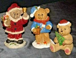 Bear Figurine (Three) AA20-2332 Vintage