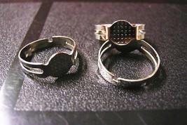 6pc platinum look adjustable ring shanks-1867 - $1.00