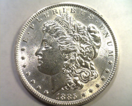 1885 MORGAN SILVER DOLLAR CHOICE ABOUT UNCIRCULATED+ CH. AU+ NICE ORIGIN... - $48.00