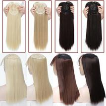 NEW 11'' Lady Hair Topper Real One Piece Full Head Clip In Hair Extension image 8