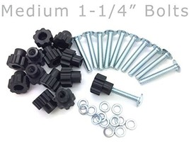 "Pet Carrier Bolt Fasteners - Black Nylon Nuts 20 pack, 1-1/4"" Medium Bolts - $11.43"