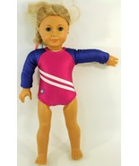 AMERICAN GIRL LONG BLOND HAIR, BLUE EYES & FRECKLES GYMNASTIC BODY SUIT - $74.44