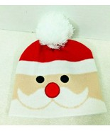 Super Cute Santa Clause Knit Cap Hat Full Face - $14.36
