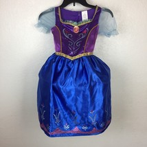 Disney Frozen Anna Fantasy Play Costume Dress Up Size 4-6X Short Sleeve ... - $13.09