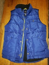 Gap Kids Puffer Vest Size Sm 6-7 Blue Thick Pre-Owned - $12.16