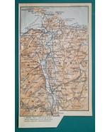 1897 BAEDEKER MAP - UNITED KINGDOM Wales Conway,  Betws-y-Coed & Environs - $7.65