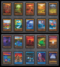 Set of Dual Lands (V.2) & Power 9 (10) Custom Cards Alternate Art  20 Cards - $49.99