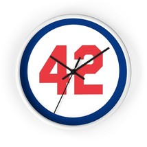 Wall clock Number Forty Two Honoring Baseball's Barrier Breaker baseball... - $21.70