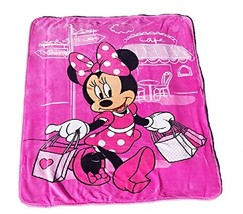 Disney Minnie Mouse Paris Club House Plush Sherpa Baby Size Blanket, Measures 40 - $29.65