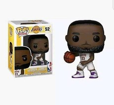 Pop LA Lakers LeBron James White/Purple Vinyl Figure - $22.13