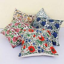 Traditional Jaipur Set of 5 Block Print Fabric Indian Cushions Pillow Covers Dec - $34.64