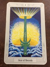 Aleister Crowley Thoth Tarot Small Deck Ace Of Swords INDIVIDUAL CARD Magik - $1.98