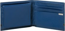 Calvin Klein Ck Men's Leather Bifold Id Wallet Key Chain Set Blue 79485 image 3