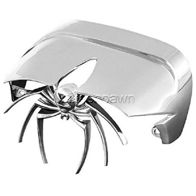 New Kuryakyn 9020 Chrome Widow Taillight Cover Visor 73-18 Harley