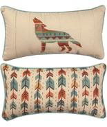 Southwestern Vibes Wolf Farida Zaman SHSVWF Throw Pillow 17 x 9 USA - $22.77