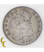 1830 Capped Bust Silver Half Dollar 50c (Extra Fine, XF) Original Toning - $150.31