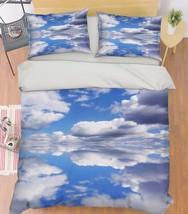 3D White Clouds Bed Pillowcases Quilt Duvet Cover Set Single Queen King Size AU - $64.32+