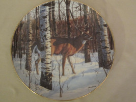 BIRCH GROVE BUCK collector plate BRUCE MILLER Wildlife DEER Woodland Roy... - $19.99