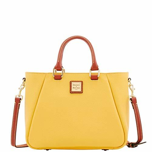 Dooney & Bourke Pebble Grain Small Top Zip Satchel Lemon