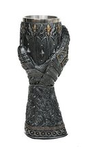 """Medieval Knight Lions Heart Gauntlet Style Wine Goblet 9"""" H - $29.69"""