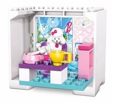 Mega Bloks Barbie Coffee Shop Poodle Building Set 16 Pieces - $12.95