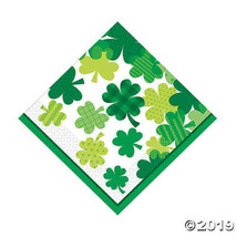 Blooming Shamrocks Luncheon Napkins 6 1/2 inches, Set of 16 - $10.54