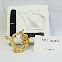 Estee Lauder 2003 Solid Perfume Compact Charming Monkey MIBB Beautiful - $149.99