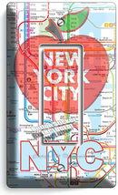 NYC NEW YORK CITY BIG APPLE SUBWAY MAP LIGHT SWITCH OUTLES WALL PLATE ROOM DECOR image 3