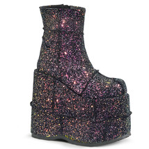 "DEMONIA Stack-201G Series 7"" PF ankle-high boot - Black Multi Glitter - €84,96 EUR"