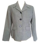 80s does 40s Ann Taylor 100% Wool Black White Herringbone Ladies Blazer ... - $28.00