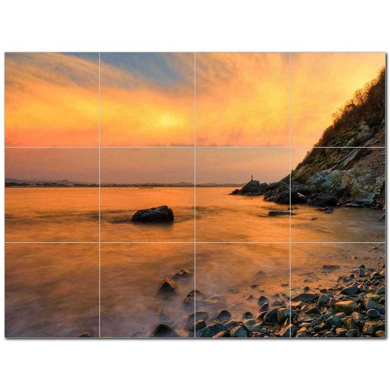 Primary image for Sunset Photo Ceramic Tile Mural Kitchen Backsplash Bathroom Shower BAZ405902