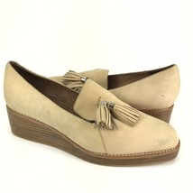 Jeffrey Campbell Womens Shoes Sz 9.5 Ditams Leather Loafer Wedge Cream T... - $49.49