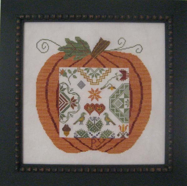 Primary image for Great Pumpkin Quaker cross stitch chart Samplers Revisited