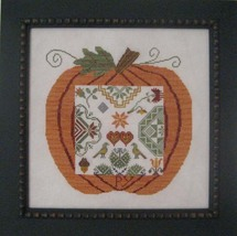 Great Pumpkin Quaker cross stitch chart Samplers Revisited - $14.40