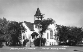 Methodist Church Deer River Minnesota 1950s RPPC Real Photo postcard - $7.43