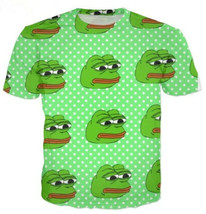 "Fashion Men/Women""s Animal Pepe The Frog 3D Print Casual T-Shirt Short S... - $31.30"