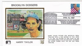 BROOKLYN DODGERS HARRY TAYLOR JACKIE ROBINSON STADIUM BROOKLYN Y 4/15/97... - $2.98