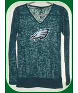 Philadelphia Eagles Women's Touch by Alyssa Milano Longsleeve Green Shir... - $26.68