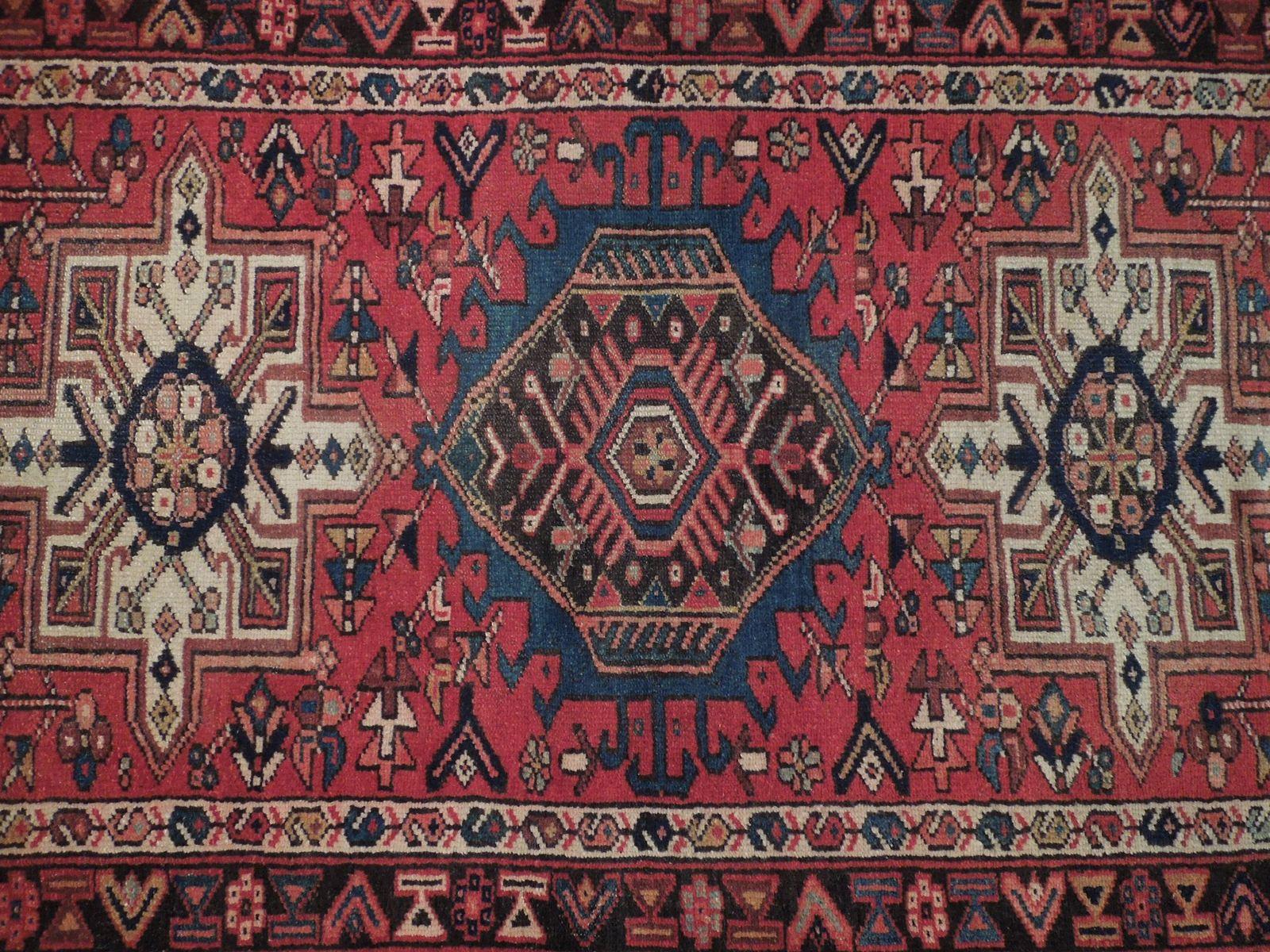 Red 3 x 13 All-Over Classic Tribal Design Runner Karaja Persian Handmade Rug image 6