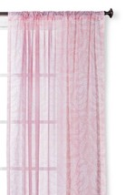"Threshold Floral Printed Sheer Curtain Panel Porcelain Pink 54""X84"" - $13.49"