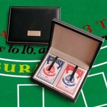 Engraved Card Sharks Playing Card Case Unique Gifts - $22.90
